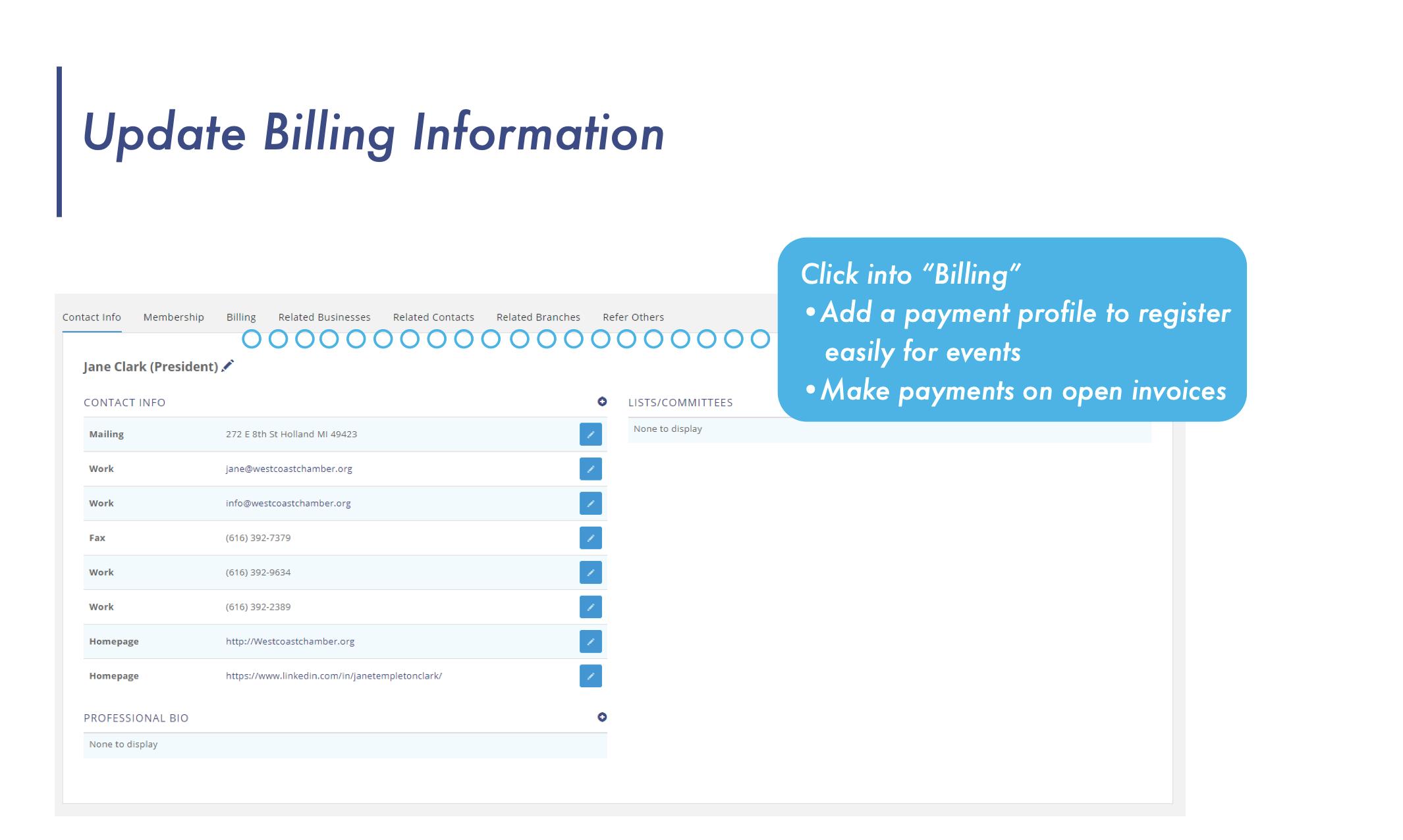 Billing Portal Screenshot