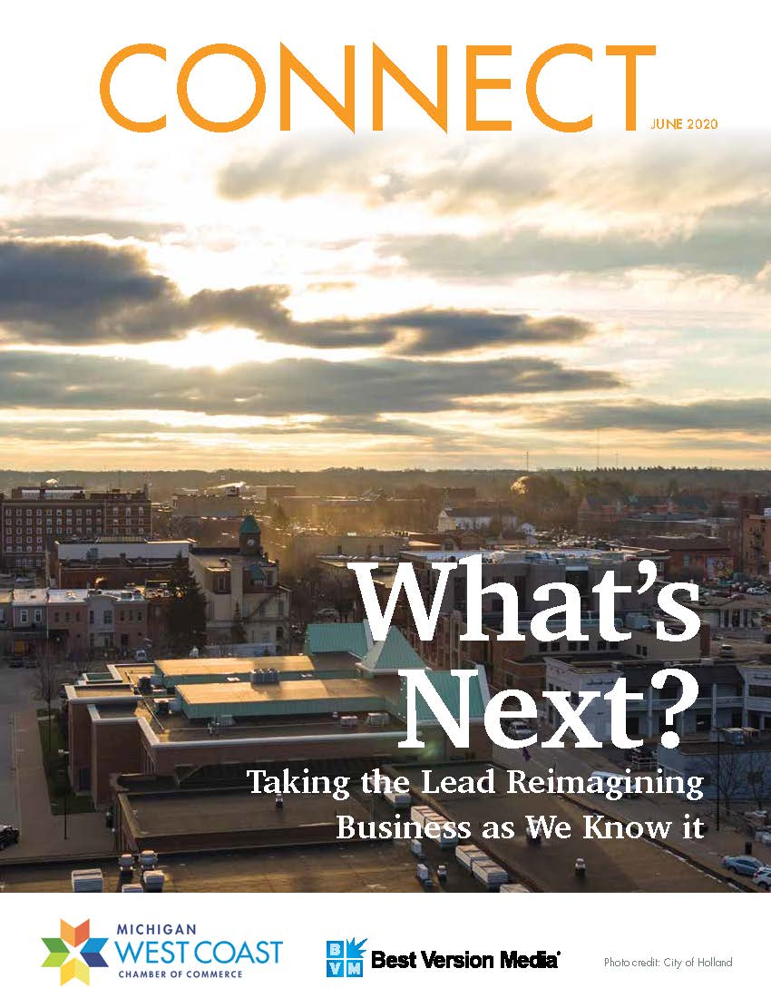 West Coast Chamber Connect Cover June 2020. Holland, MI Skyline
