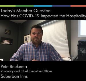 Member Question Impact of COVID19 on Hospitality Industry