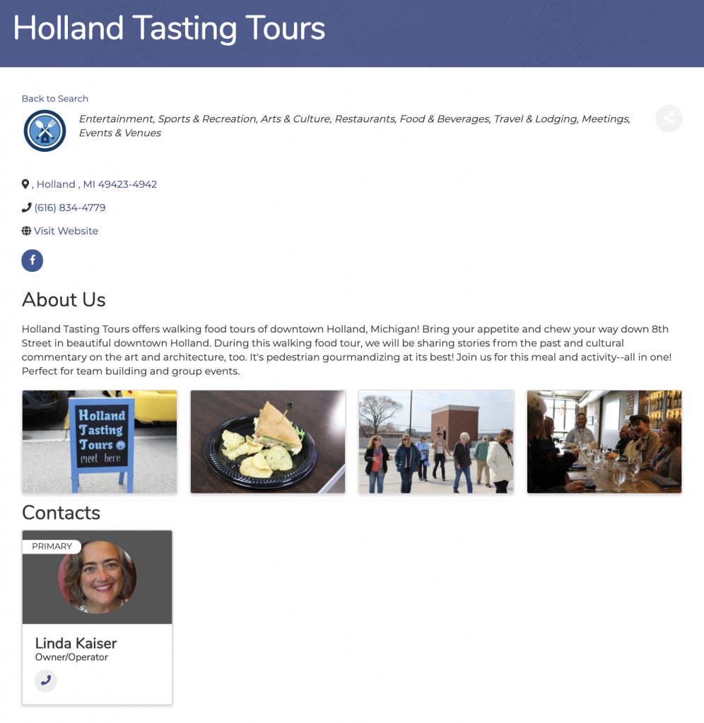 Holland Tasting Tours Directory Listing Online