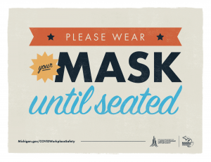 Wear Mask Until Seated