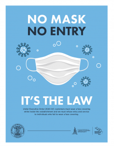 No Mask, No Entry.