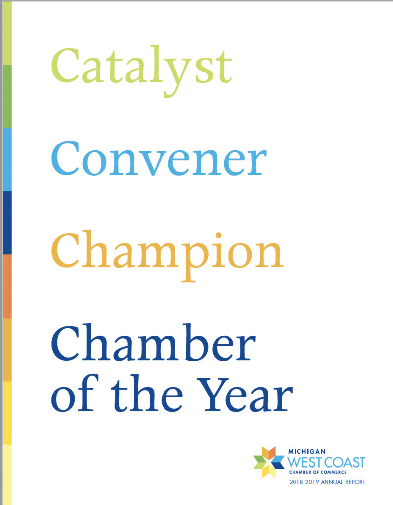 West Coast Chamber Annual Report 2019 - Cover