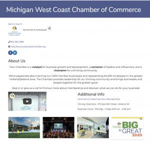 Chamber InfoHub Page Screen Shot