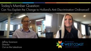 Member Question City of Holland Anti-Discrimination Ordinance