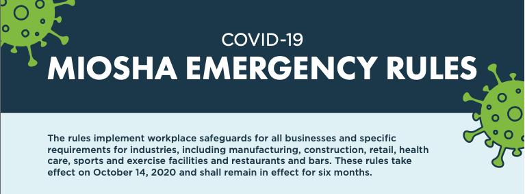 MIOSHA Emergency Rules Oct 2020