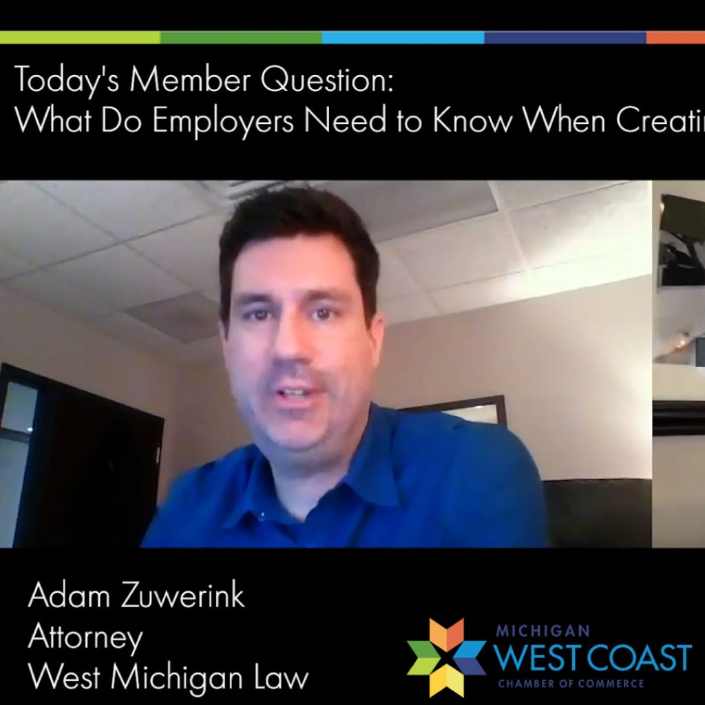 Adam Zuwerink West Michigan Law Employer Vaccination Policies