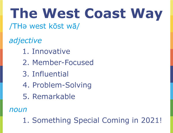 What's The West Coast Way? Magazine teaser image with synonyms