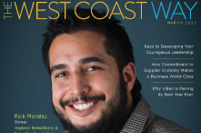 March 2021 Cover of The West Coast Way - featuring Rick Moralez