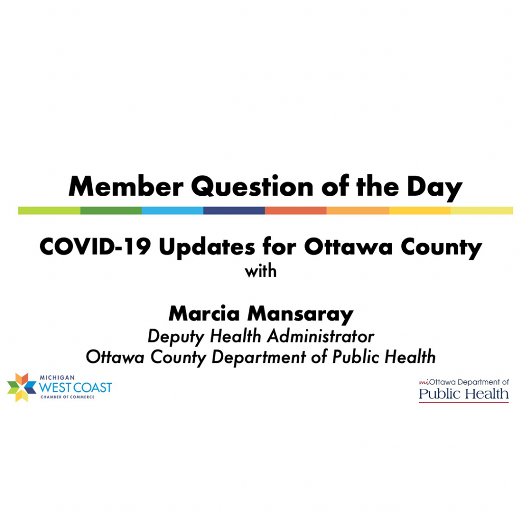 Member Question of the Day: COVID-19 Update for Ottawa County
