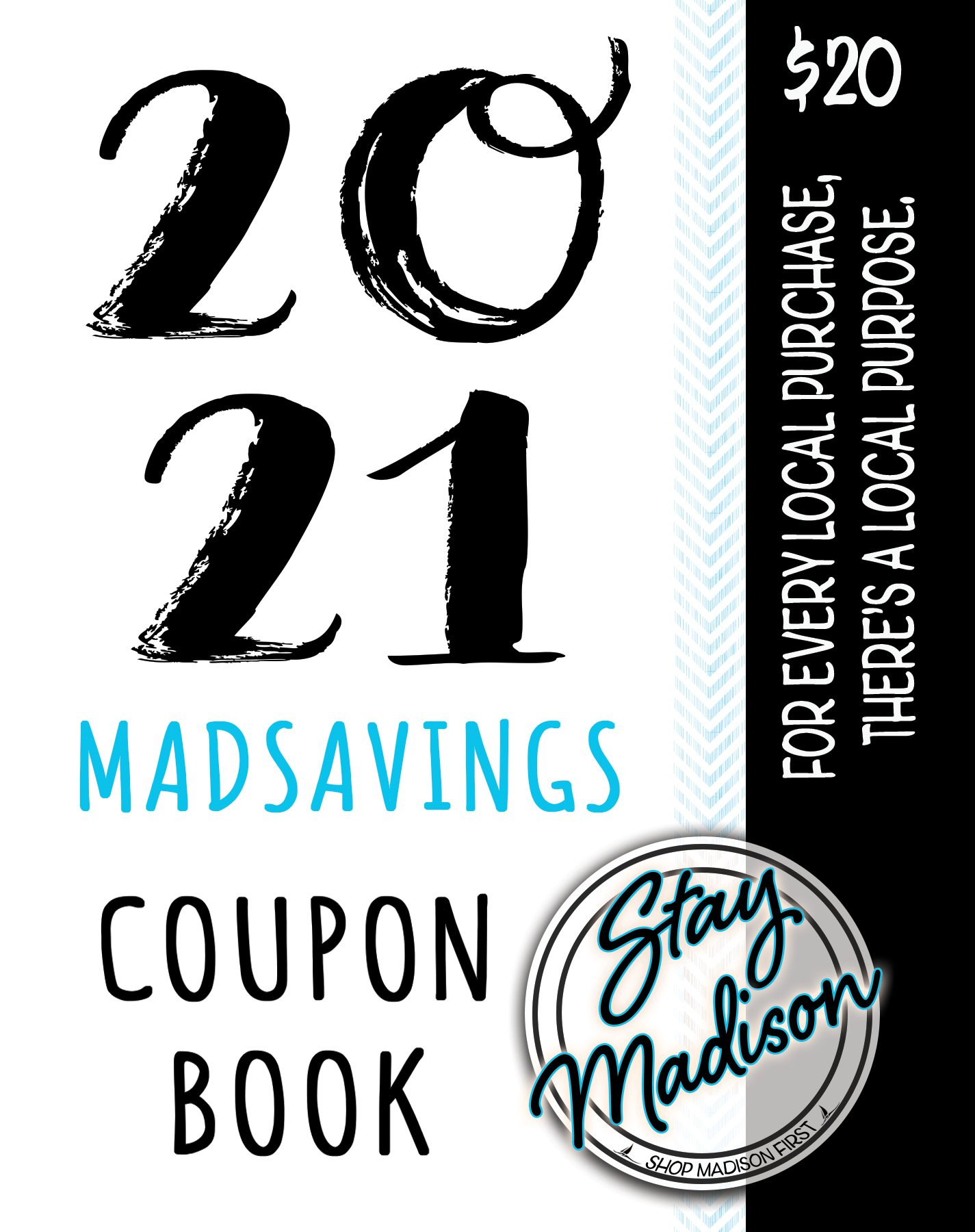 2021 Coupon Book Cover Blue Stripe