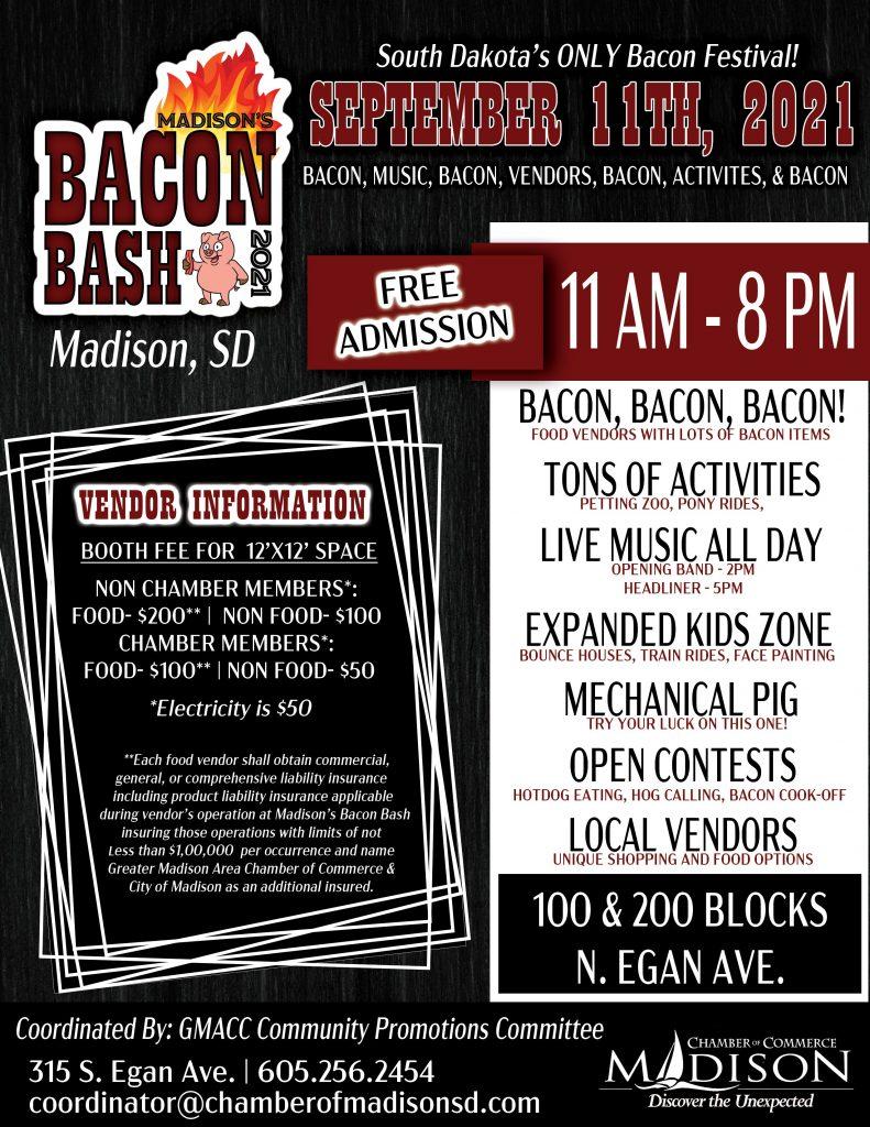 2021 Bacon Bash Flyer