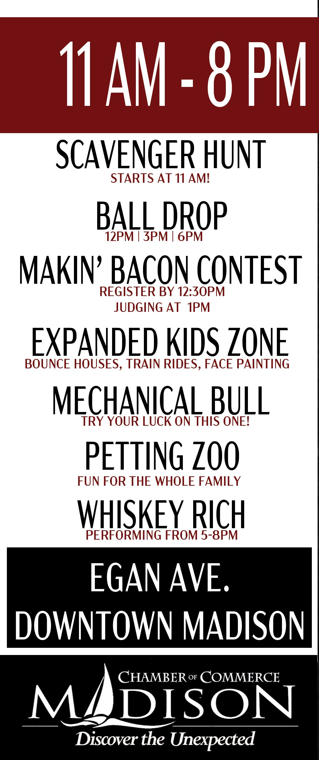 2021 Bacon Bash Events Listing