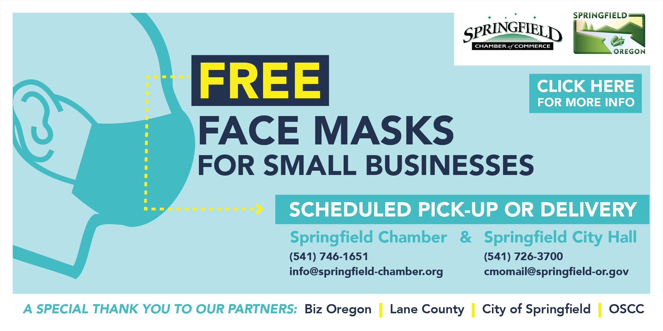 Free Face Masks Chamber/City