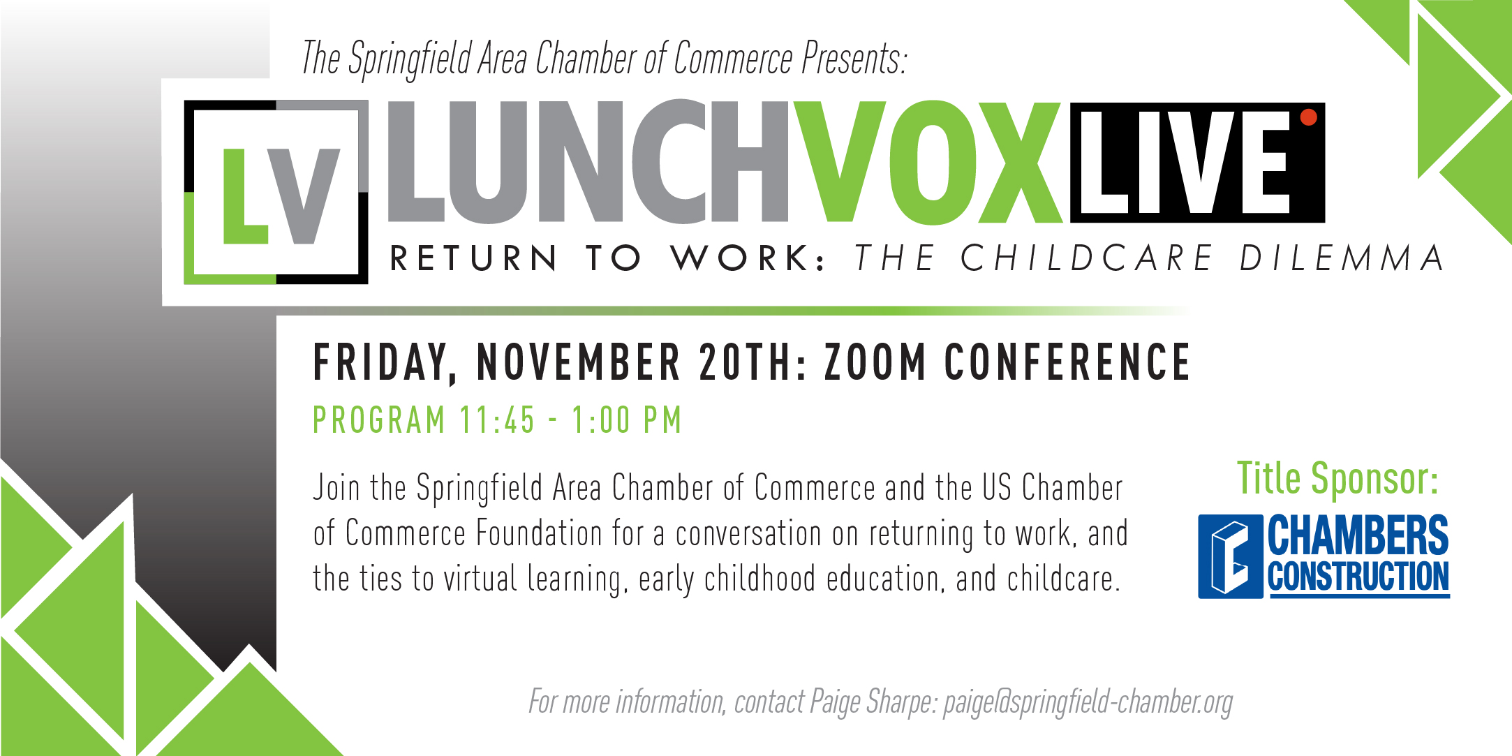 LunchVox LIVE: Return to Work - The Childcare Dilemma