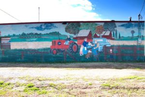 Building Mural in Blue Ridge