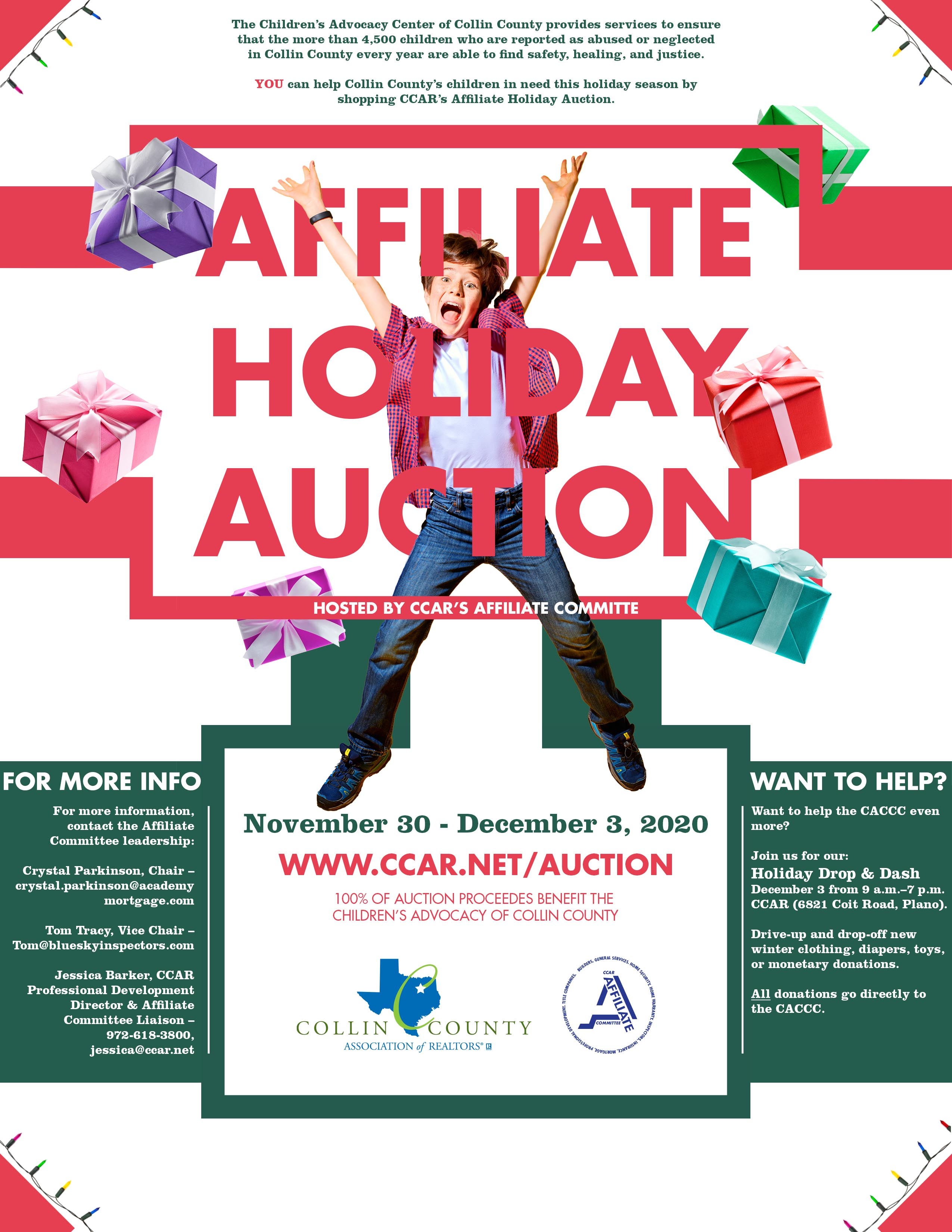 Affiliate Holiday Auction Flyer