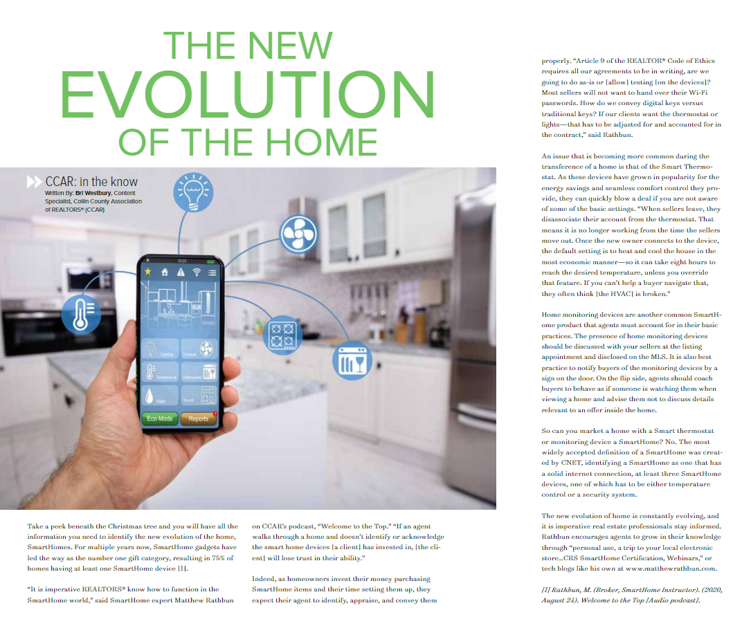 Evolution of Home