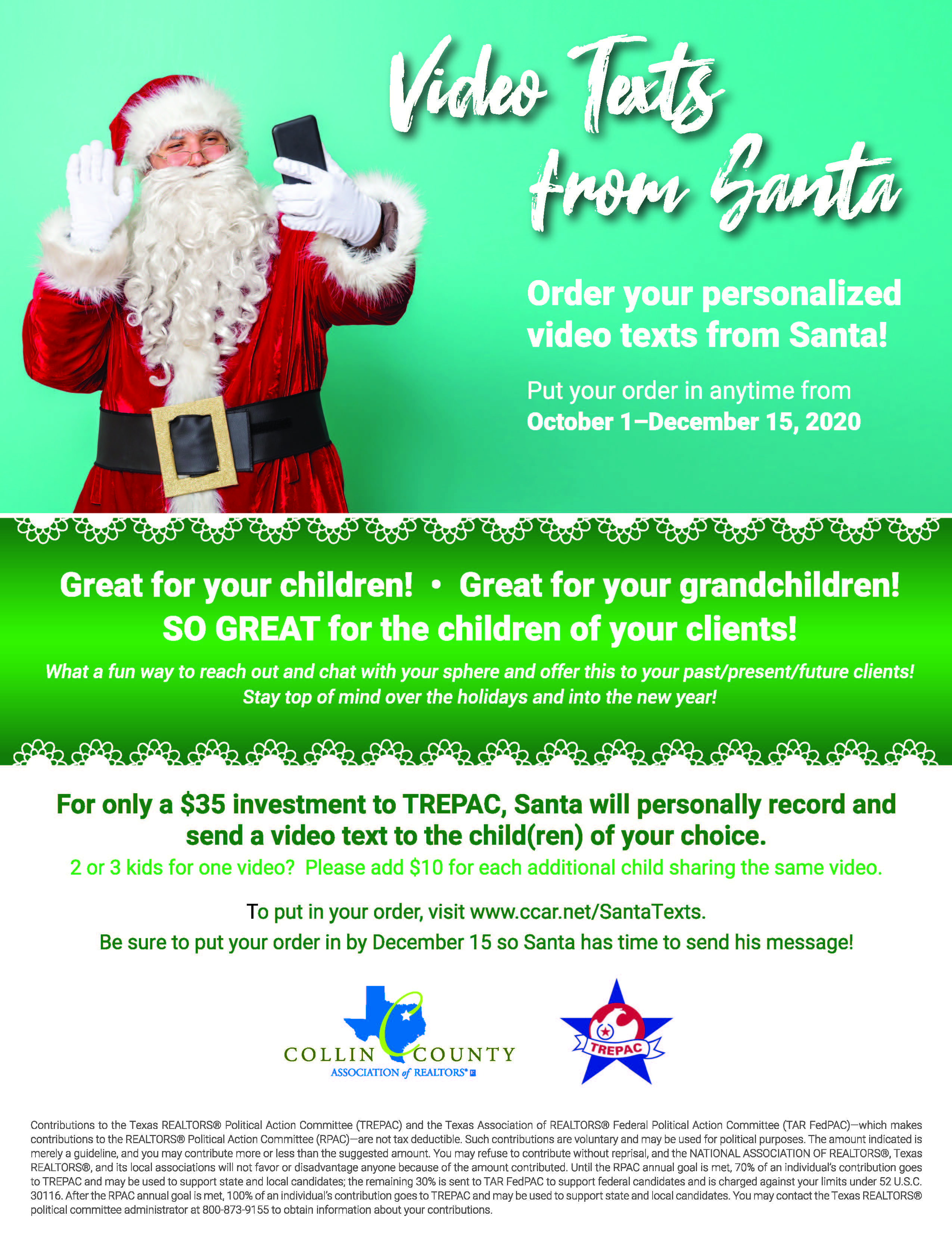 Video Texts From Santa Flyer