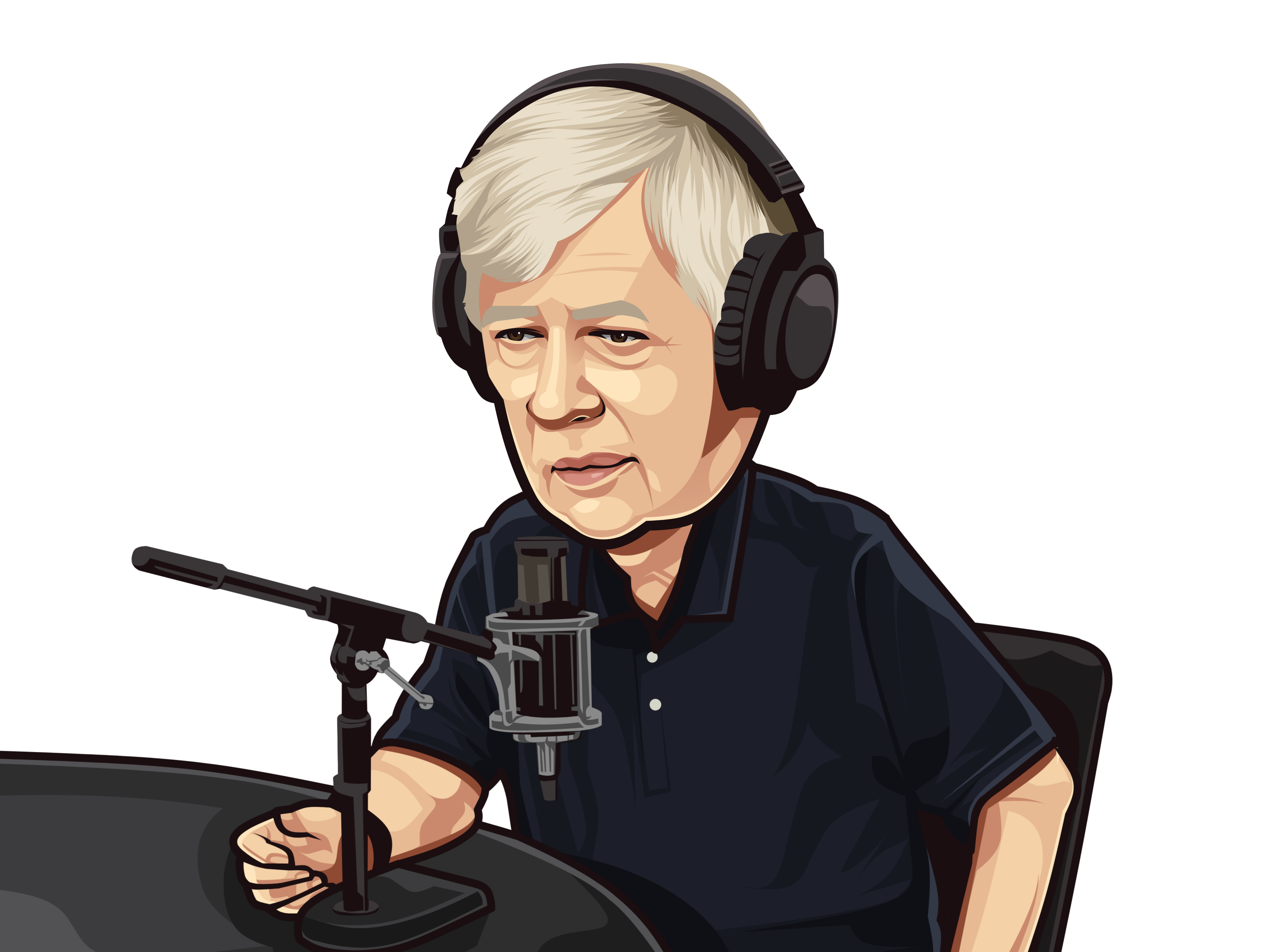 David podcast caricature 2020 +