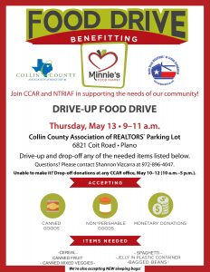 Drive-up Food Drive Flyer, 5-13-21
