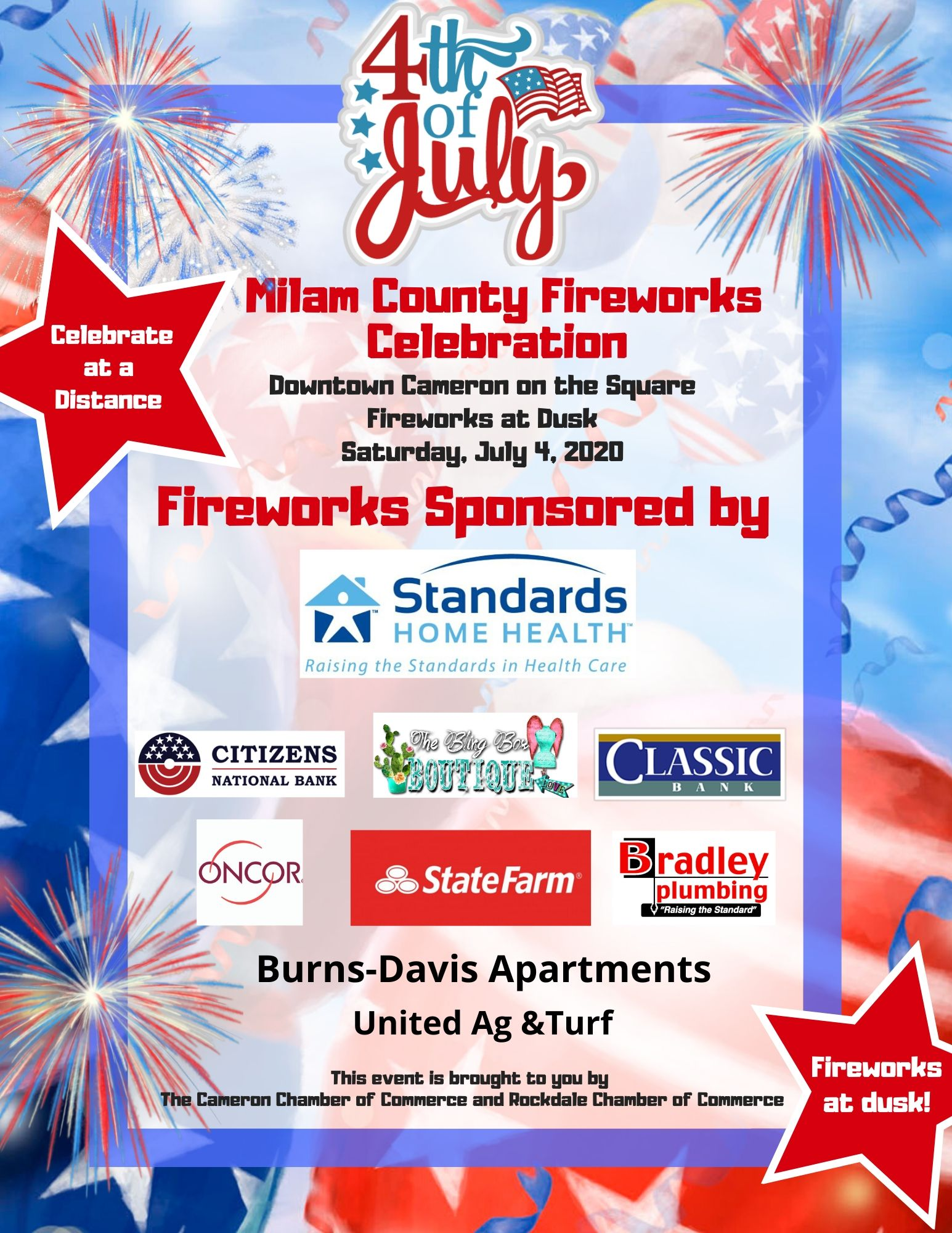 2020 Sponsors 4th of July
