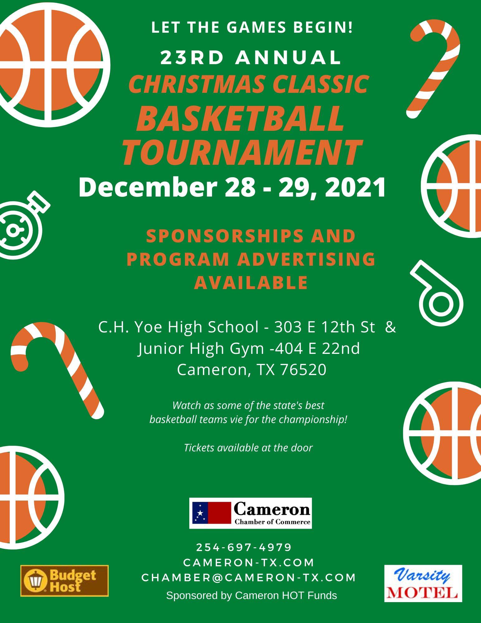 2021 Cameron Christmas Basketball Classic
