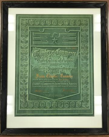 100th Anniversary Certificate