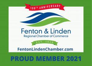 Proud Member of the Fenton & Linden Regional Chamber of Commerce