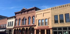 A series of mid 1800 buildings located in downtown Faribault
