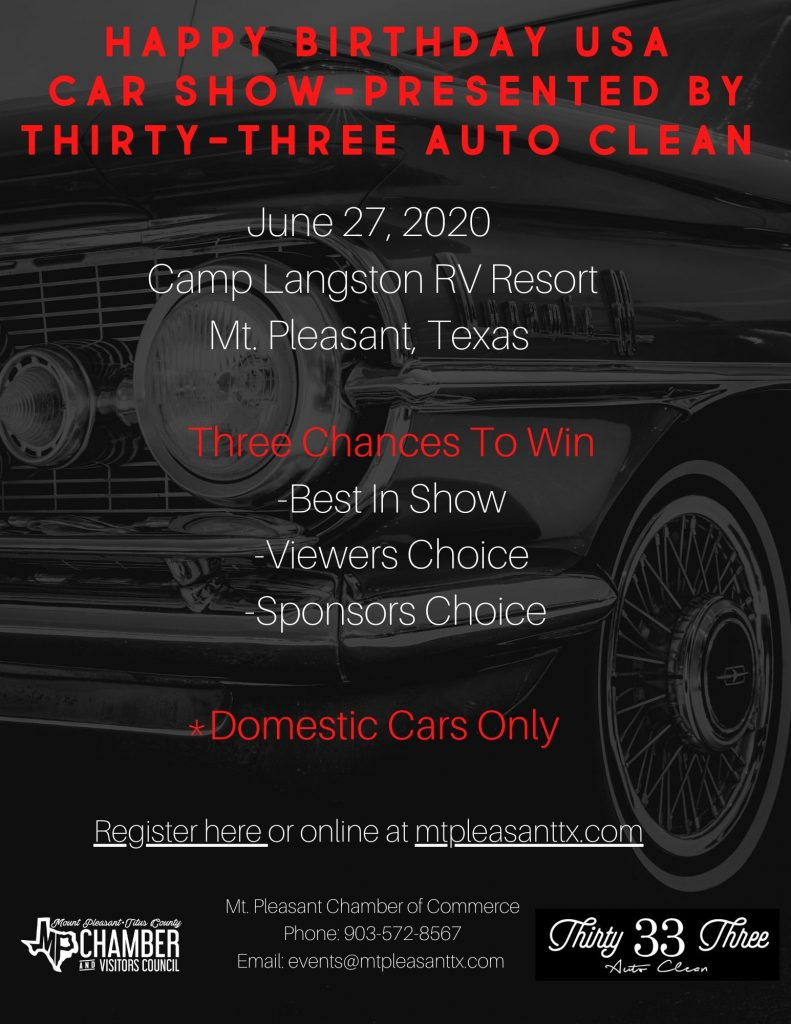 Updated Car Show Flyer