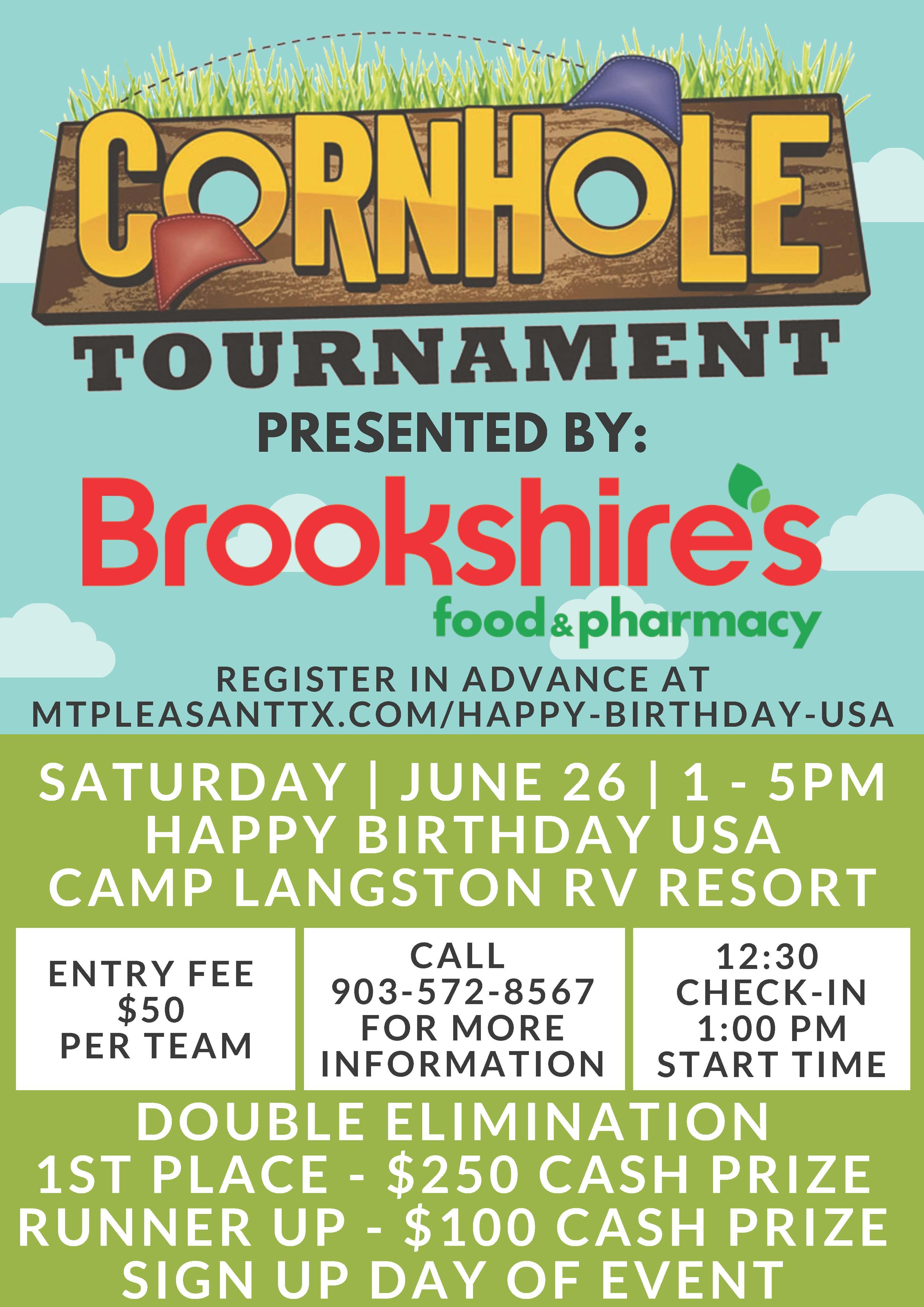 Brookeshire's Corn Hole Tournament Flyer
