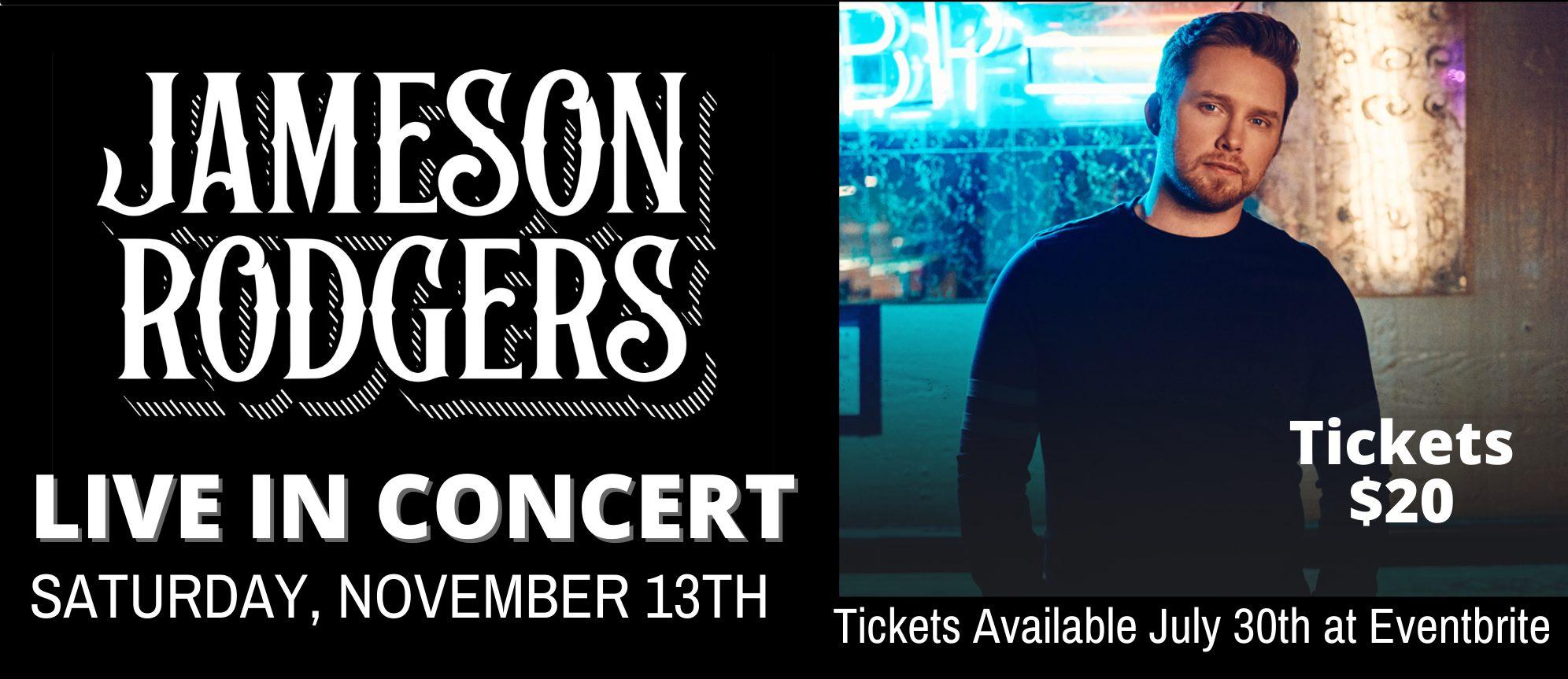 Jameson concert smaller