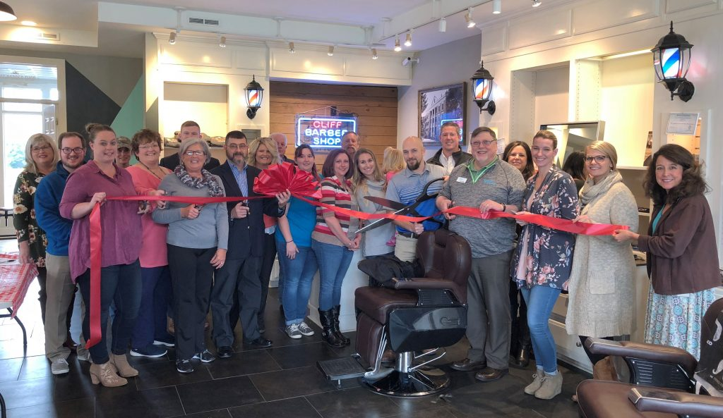 Cliff Barber Shop Ribbon Cutting