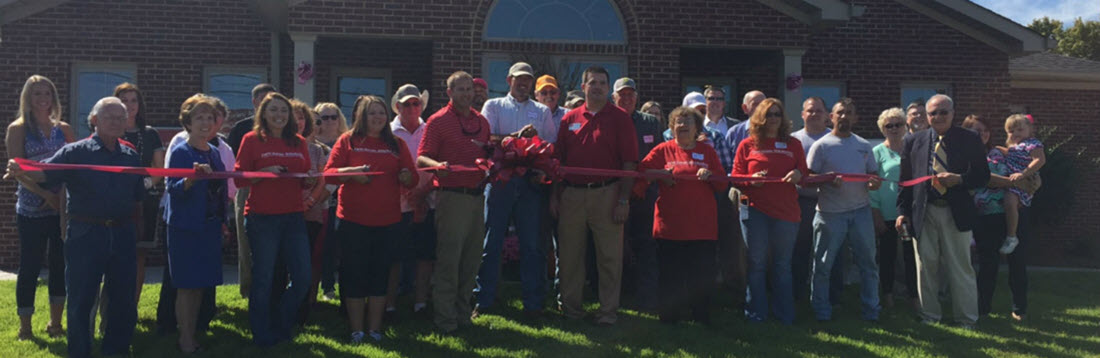 Farm Bureau ribbon cutting