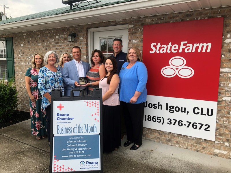 August 2018 Business of the Month - State Farm Insurance - Josh Igou Agent