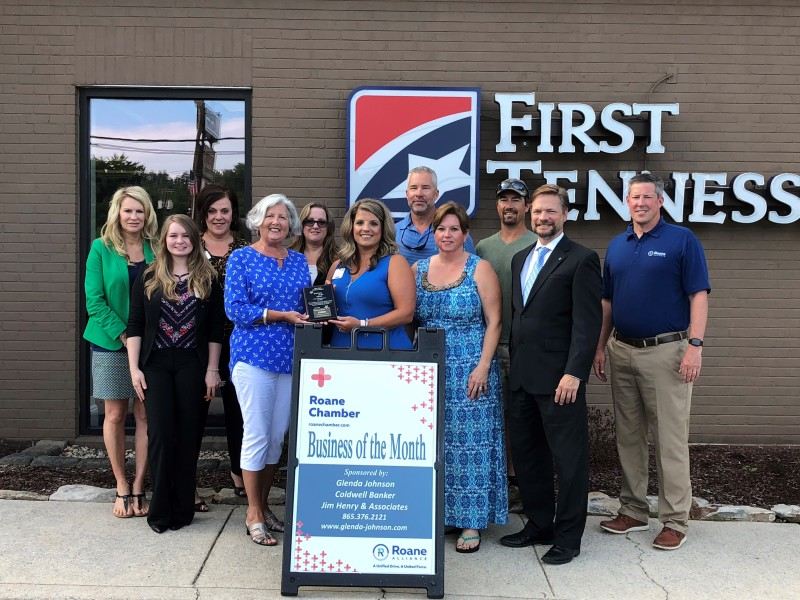 July 2018 Business of the Month - First Tennessee Bank - Kingston