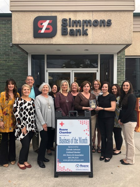 November 2018 Business of the Month - Simmons Bank