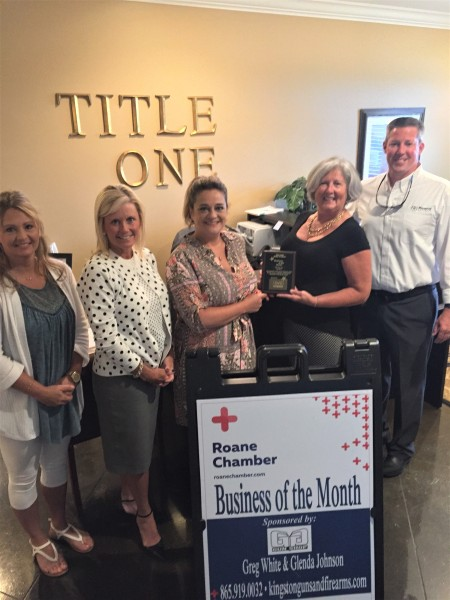 July 2017 Business of the Month - Title One, Inc.