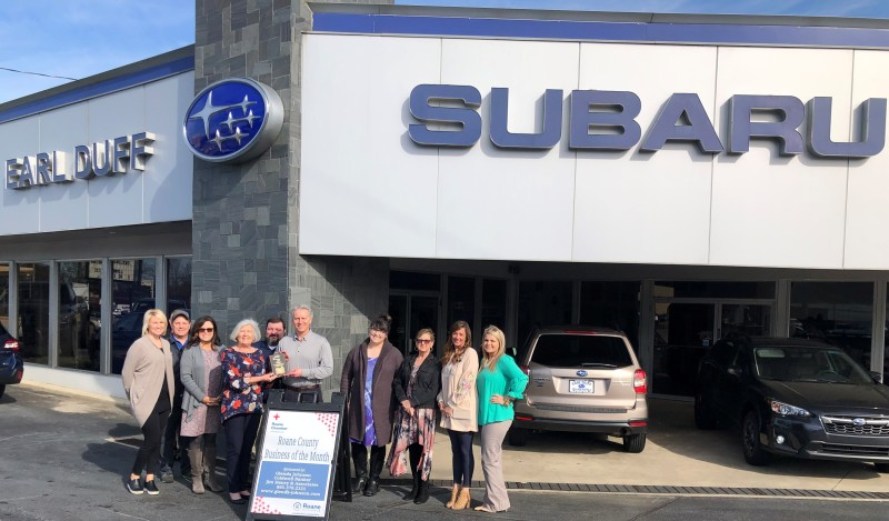 April 2019 Roane County Business of the Month - Earl Duff Subaru