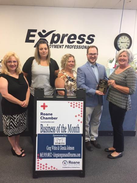 September 2017 Business of the Month - Express Employment Professionals - Rockwood