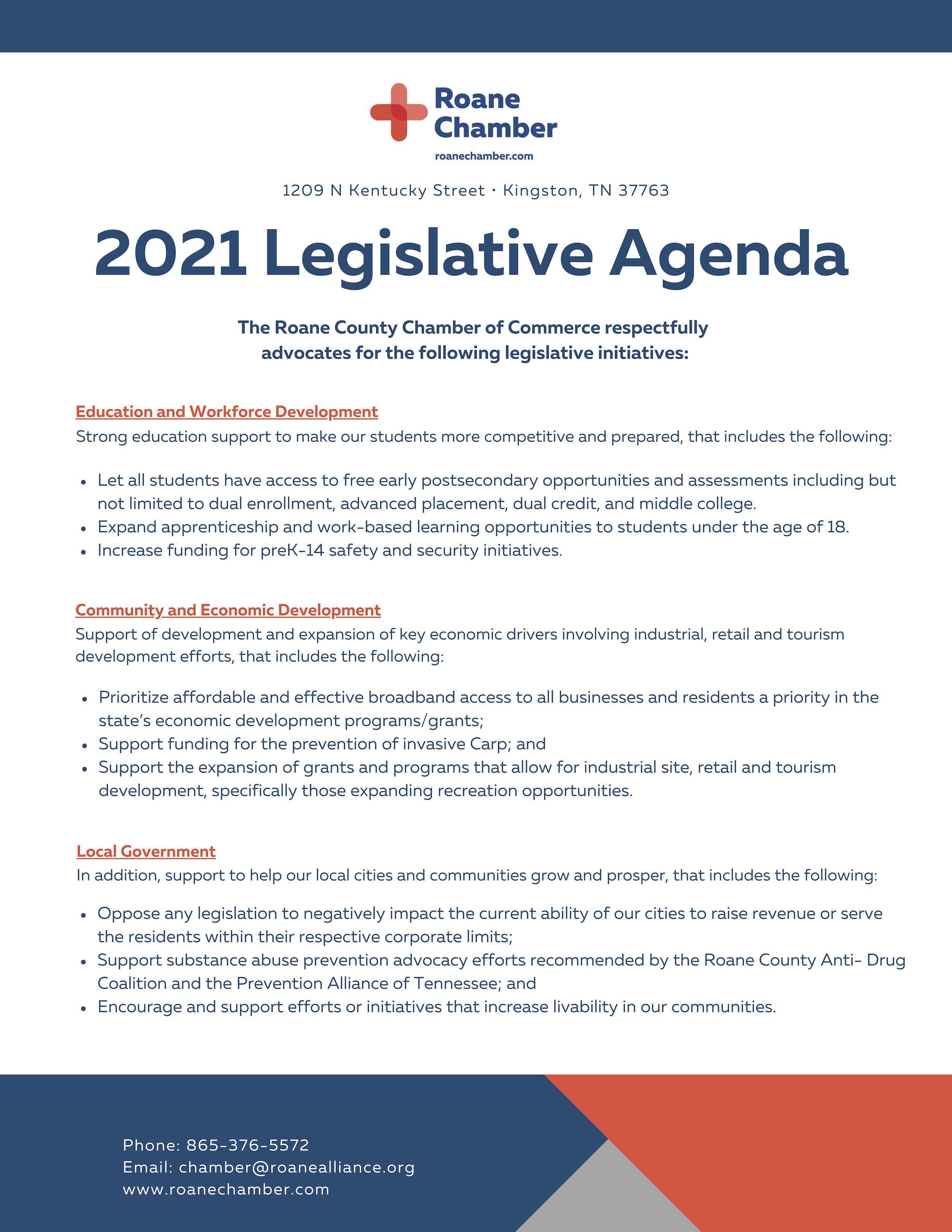 2021 Legislative Agenda- FINAL
