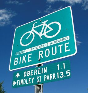 Bike Route Sign - Oberlin
