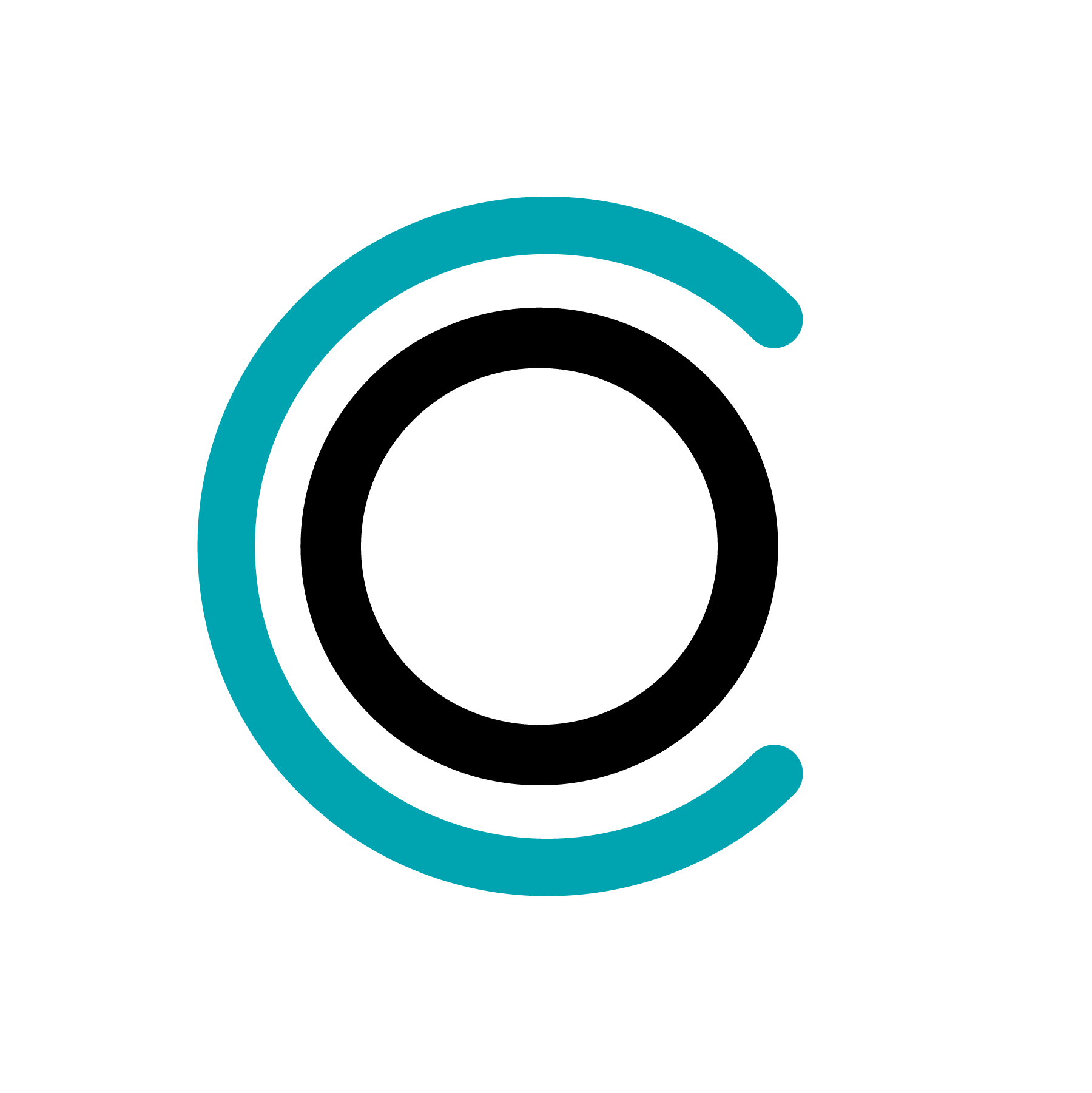 CoWork Oberlin Symbol TEAL + BLACK FACEBOOK