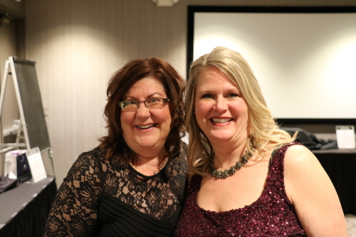 Michele (left) & Laurie (right) at the 2020 Annual Community Awards Gala