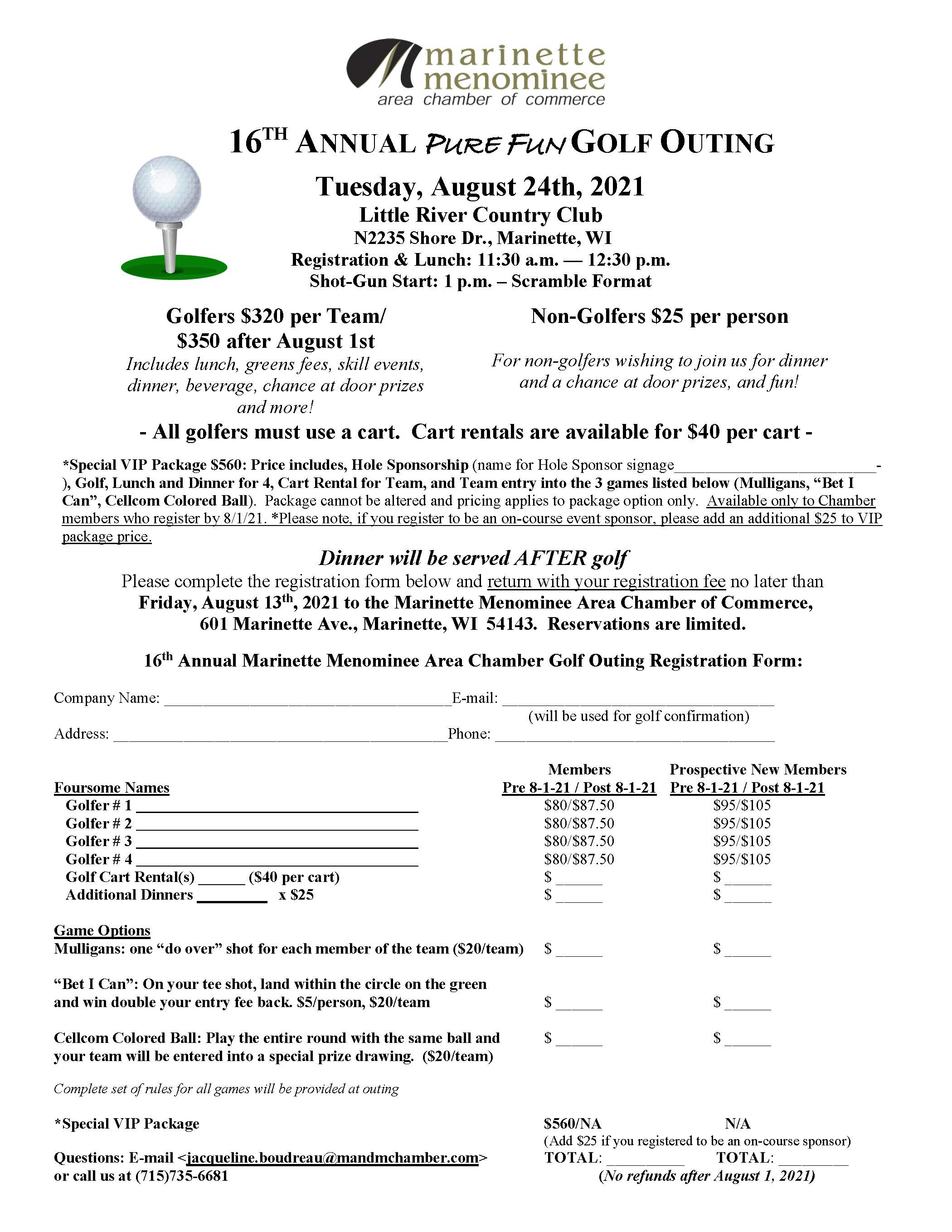 Golf Flyer 2021 - 1st out