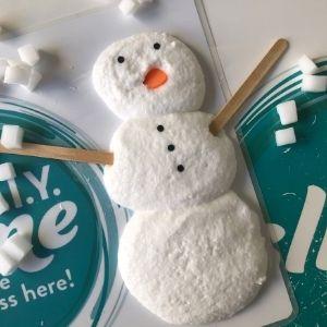 snow man made of slime