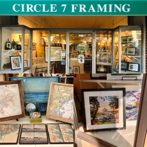 Circle 7 Framing Storefront with various framed art