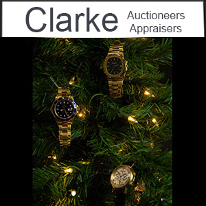 Clark Auction - watched on lit christmas tree