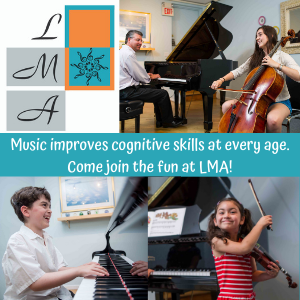 Larchmont Music Academy children learning instruments